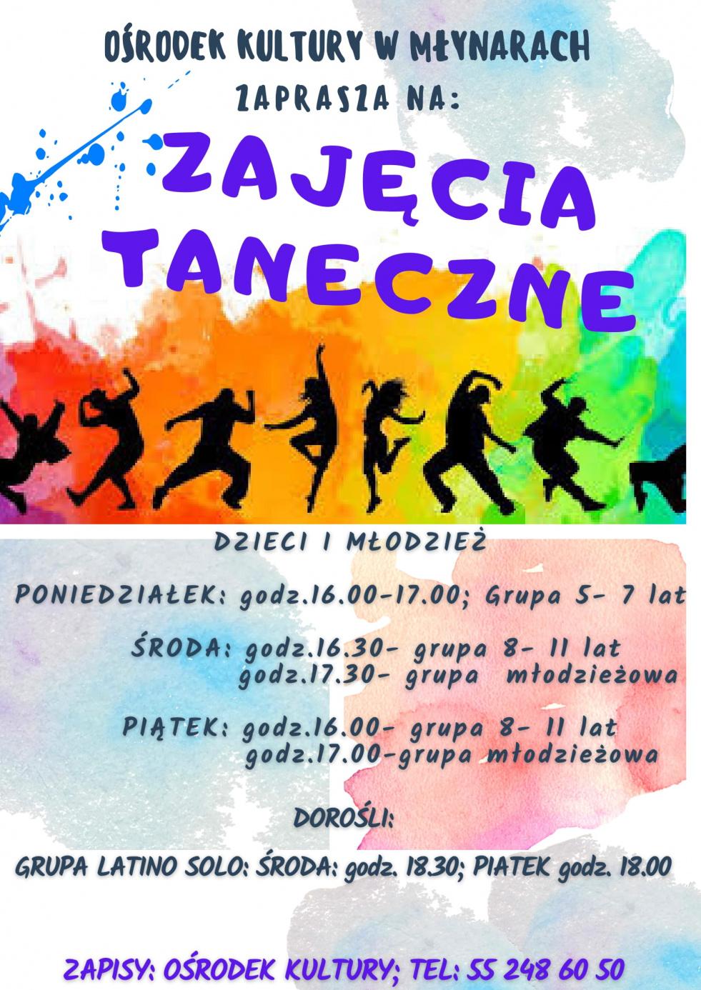 Ośrodek Kultury w Młynarach zaprasza na zajęcia taneczne
