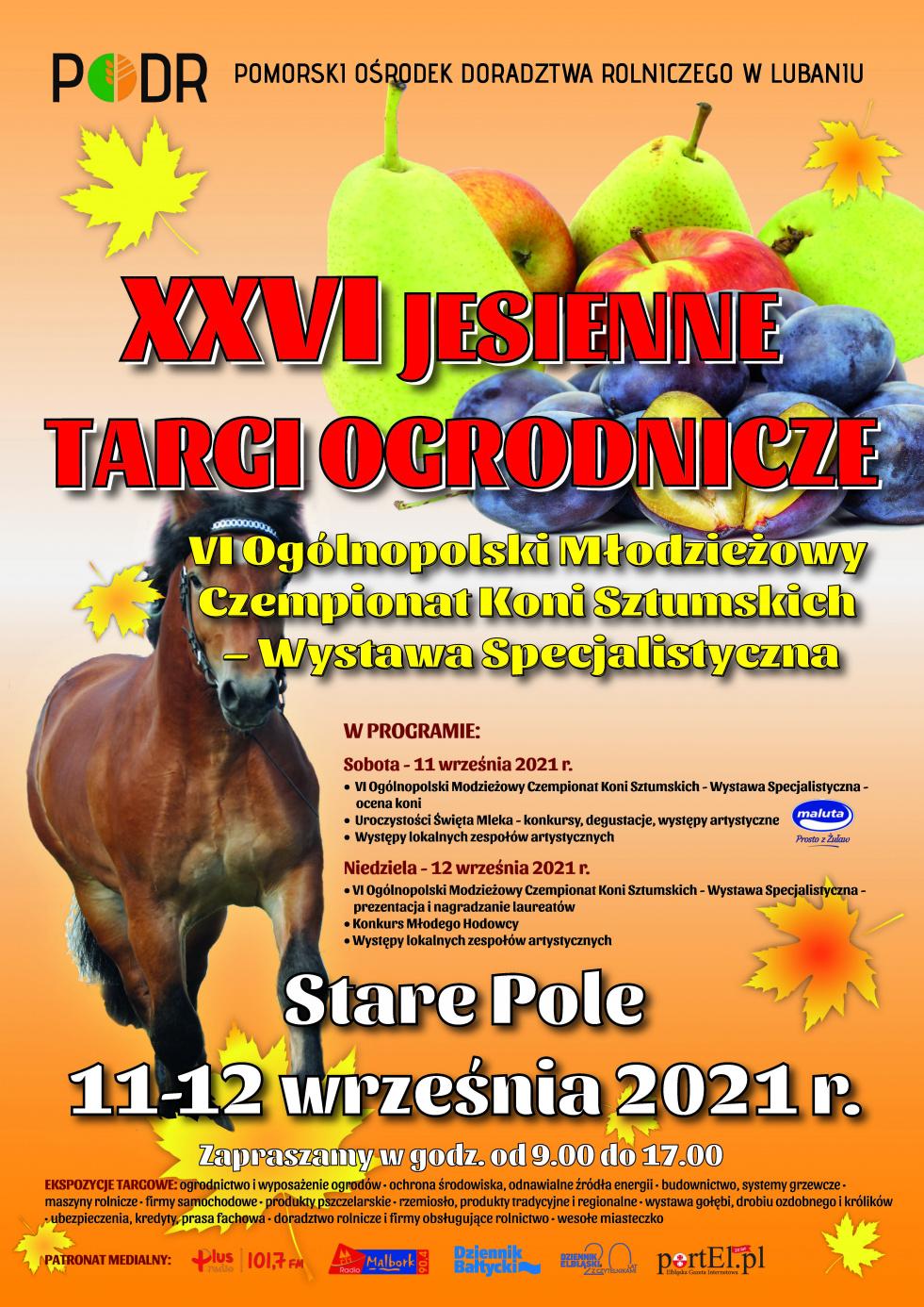 XXVI Jesienne targi ogrodnicze 11-12 września 2021 r. Stare Pole